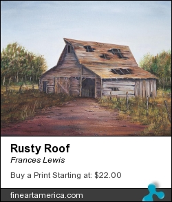 Rusty Roof by Frances Lewis - Painting - Oil On Canvas