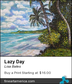 Lazy Day by Lisa Bates - Painting - Acrylic
