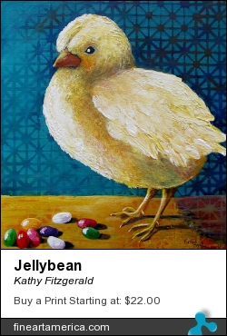 Jellybean by Kathy Fitzgerald - Painting - Acrylic On Cradled Wood Panel