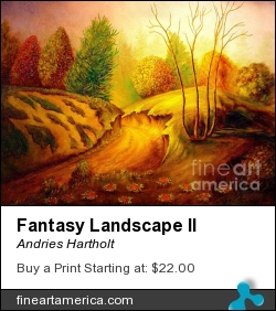 Fantasy Landscape II by Andries Hartholt - Painting - Oil On Canvas