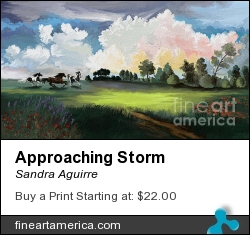 Approaching Storm by Sandra Aguirre - Painting