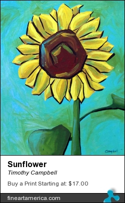 Sunflower by Timothy Campbell - Painting - Acrylic On Wood