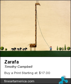 Zarafa by Timothy Campbell - Painting - Acrylic On Wood