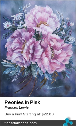 Peonies In Pink by Frances Lewis - Painting - Oil On Canvas