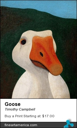 Goose by Timothy Campbell - Painting - Acrylic On Canvas