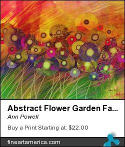 Abstract Flower Garden Fantasy - Abstract Art by Ann Powell - Digital Art - Digital Art