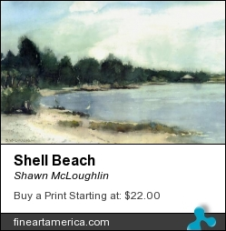 Shell Beach by Shawn McLoughlin - Painting - Watercolor On Paper