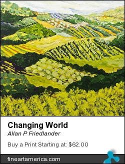 Changing World by Allan P Friedlander - Painting - Acrylic On Canvas