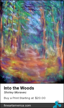 Into The Woods by Shirley Moravec - Photograph - Digitally Altered Photos