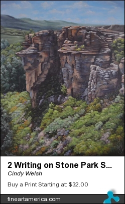 2 Writing On Stone Park Series by Cindy Welsh - Painting