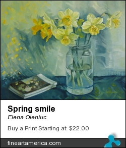 Spring Smile by Elena Oleniuc - Painting - Oil On Canvas
