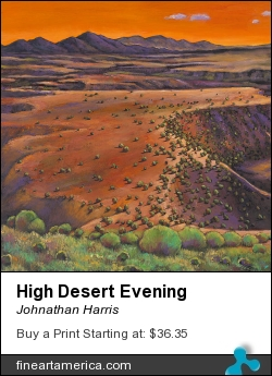 High Desert Evening by Johnathan Harris - Painting - Giclee Print From Original Acrylic Painting