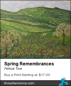 Spring Remembrances by Felicia Tica - Painting - Acrylic On Linen