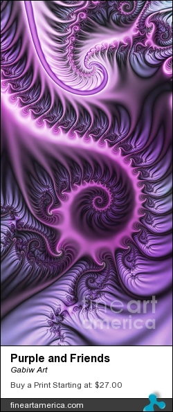 Purple And Friends by Gabiw Art - Digital Art - Fractal Art