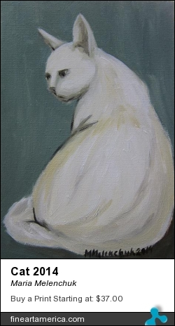 Cat 2014 by Maria Melenchuk - Painting - Oil On Canvas