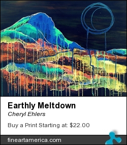 Earthly Meltdown by Cheryl Ehlers - Painting - Acrylic On Canvas