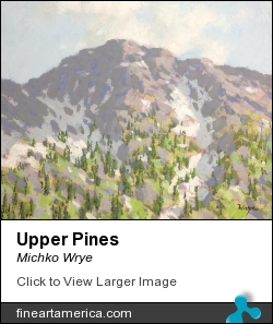 Upper Pines by Michko Wrye - Painting - Acrylic On Panel