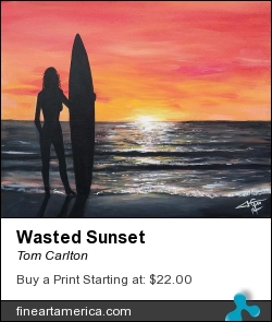 Wasted Sunset by Tom Carlton - Painting - Acrylic Paint
