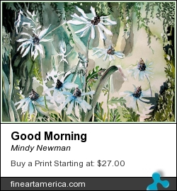 Good Morning by Mindy Newman - Painting - Watercolor On Archival Paper Or Canvas