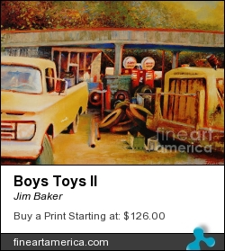 Boys Toys II by Jim Baker - Painting - Giclee On Canvas