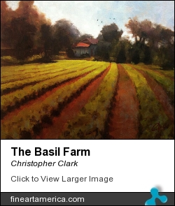 The Basil Farm by Christopher Clark - Painting - Oil On Canvas