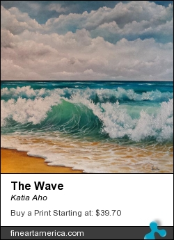 The Wave by Katia Aho - Painting - Oil On Canvas