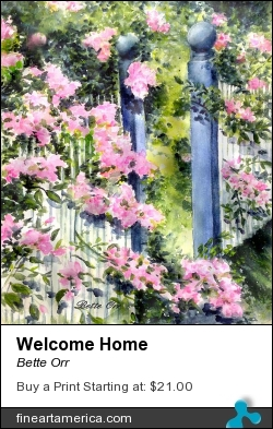 Welcome Home by Bette Orr - Painting - Transparent Watercolor