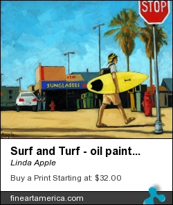 Surf And Turf - Oil Painting by Linda Apple - Painting - Oil On Canvas