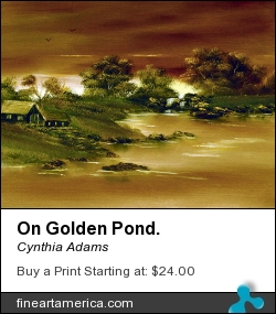 On Golden Pond. by Cynthia Adams - Painting - Oil On Canvas
