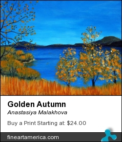 Golden Autumn by Anastasiya Malakhova - acrylic on canvas