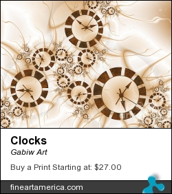 Clocks by Gabiw Art - Digital Art - Fractal Art
