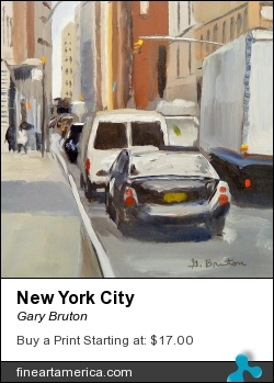 New York City by Gary Bruton - Painting