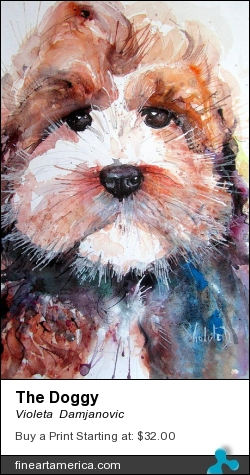 The Doggy by Violeta  Damjanovic - Painting