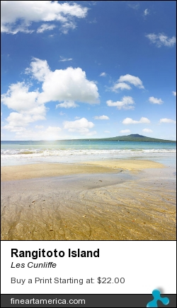 Rangitoto Island by Les Cunliffe - Photograph