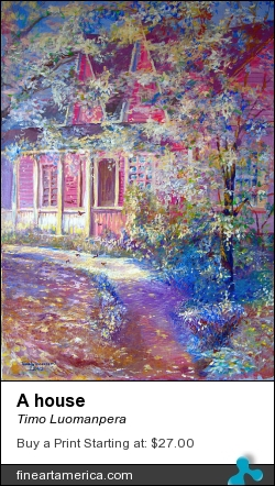 A House by Timo Luomanpera - Painting - Acrylic On Canvas
