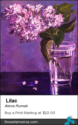 Lilac by Alena Rumak - Painting - Oil On Canvas