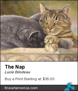The Nap by Lucie Bilodeau - Painting - Oil On Canvas
