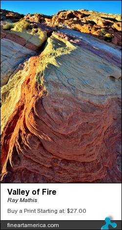 Valley Of Fire by Ray Mathis - Photograph