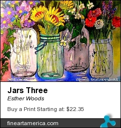 Jars Three by Esther Woods - Painting - Watercolor