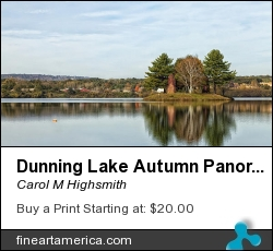 Dunning Lake Autumn Panorama by Carol M Highsmith - Photograph - Photography