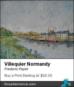 Villequier Normandy by Frederic Payet - Painting - Acrylic Palette Knife