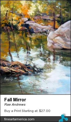 Fall Mirror by Rae Andrews - Painting - Pastel