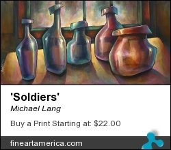 'soldiers' by Michael Lang - Painting - Acrylic On Canvas
