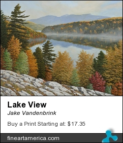 Lake View by Jake Vandenbrink - Painting - Acrylic