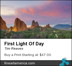 First Light Of Day by Tim Reaves - Photograph - Photography
