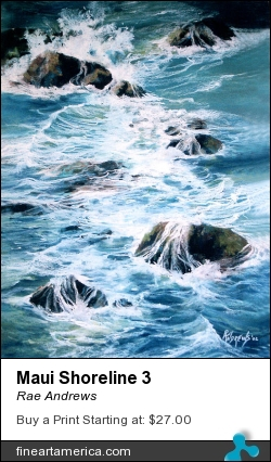 Maui Shoreline 3 by Rae Andrews - Painting - Pastel