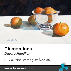 Clementines by Daydre Hamilton - Painting - Watercolor