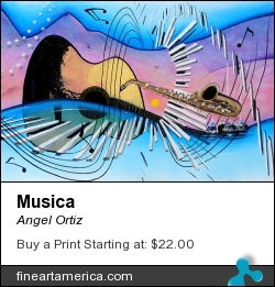Musica by Angel Ortiz - Painting - Acrylic On Canvas