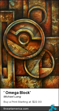 ' Omega Block' by Michael Lang - Painting - Acrylic On Canvas