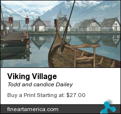 Viking Village by Todd and candice Dailey - Digital Art - Digital Art